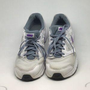 Nike Sneakers in White/Purple/Blue, Size 7.5